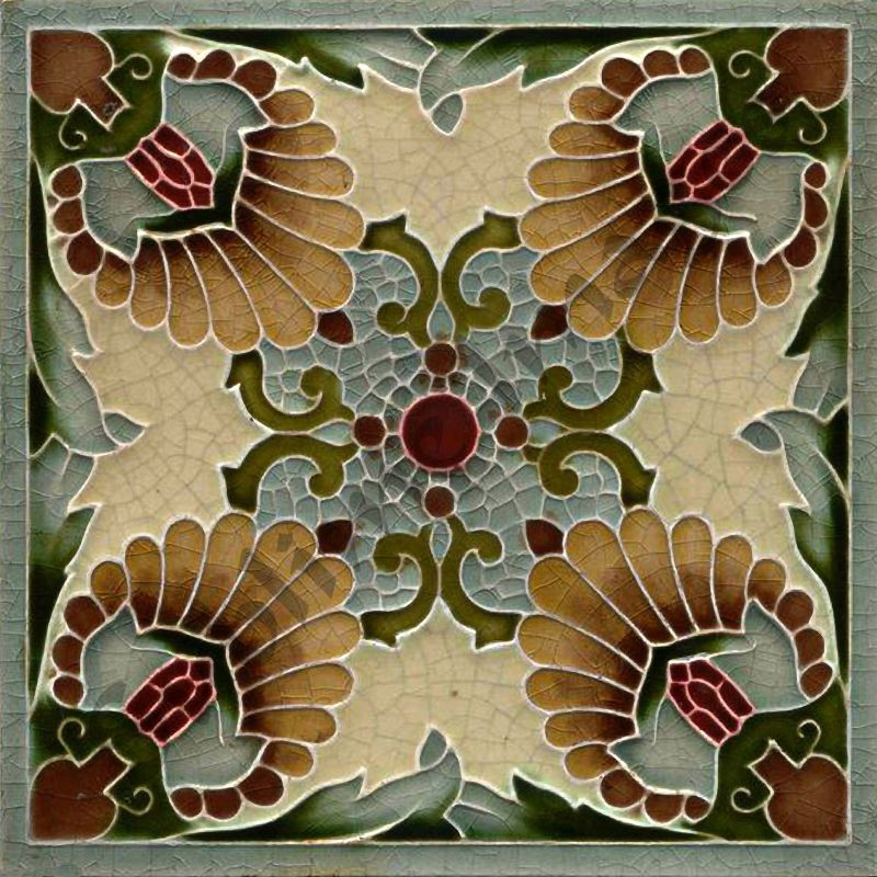 An037 Art Nouveau Tiles Reproduction Ceramic Or Glass Tiles