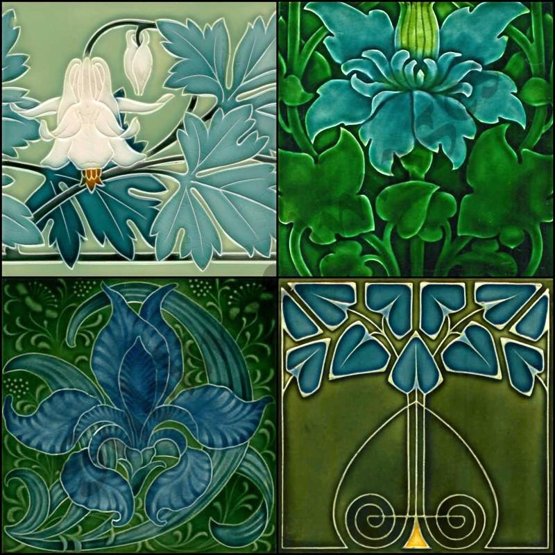 art nouveau coasters