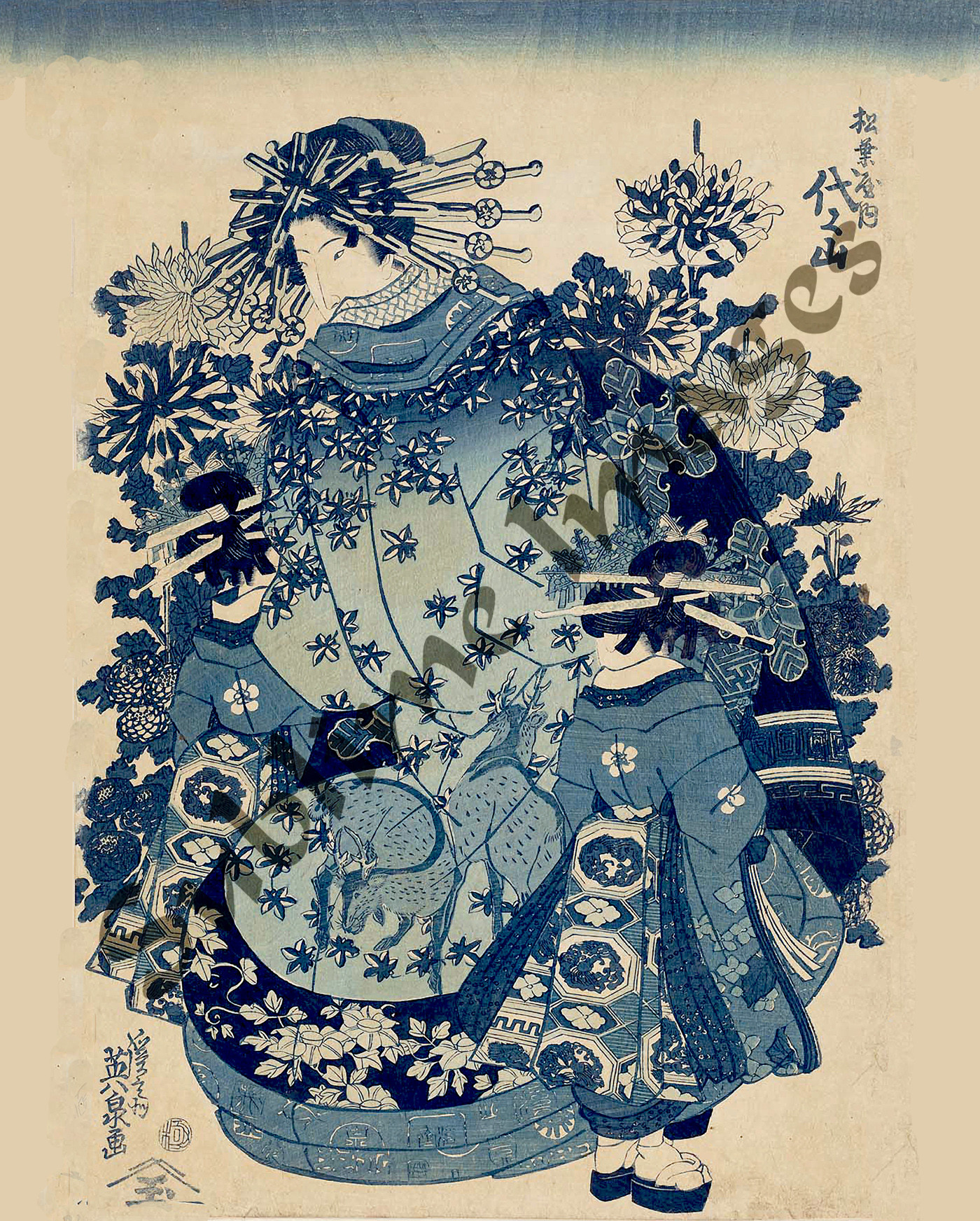 JP004 - Ukiyo-e (Japanese Prints) - Reproduction Ceramic ...