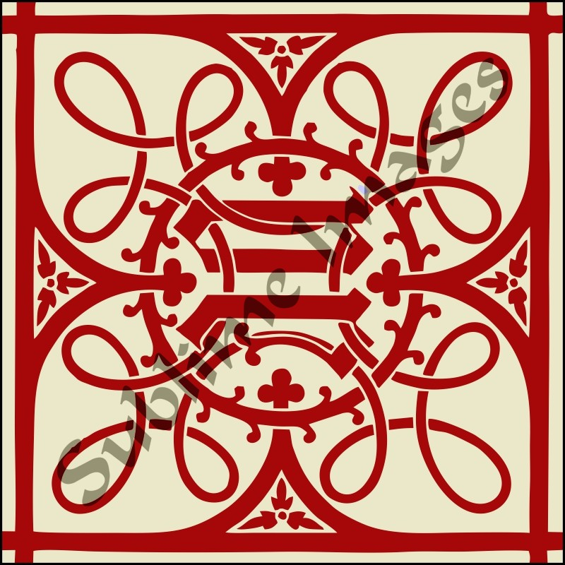 This Is A Gothic Revival Tile By Augustus Pugin Was